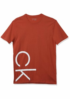 Calvin Klein Men's Athleisure Logo Crewneck T-Shirt POINSETTA
