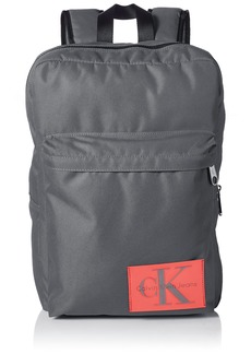 Calvin Klein Men's Ballistic Nylon Slim Square Backpack charcoal NO