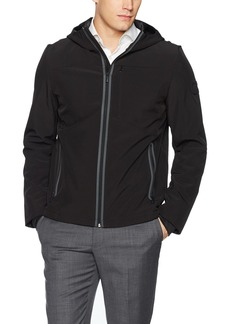 Calvin Klein Men's Full Zip Baseball Jacket Black