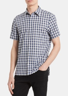 Calvin Klein Men's Big & Tall Classic-Fit Yarn-Dyed Heathered Check Shirt