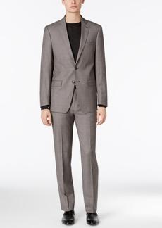 Calvin Klein Men's Extra-Slim Fit Black/White Birdseye Suit