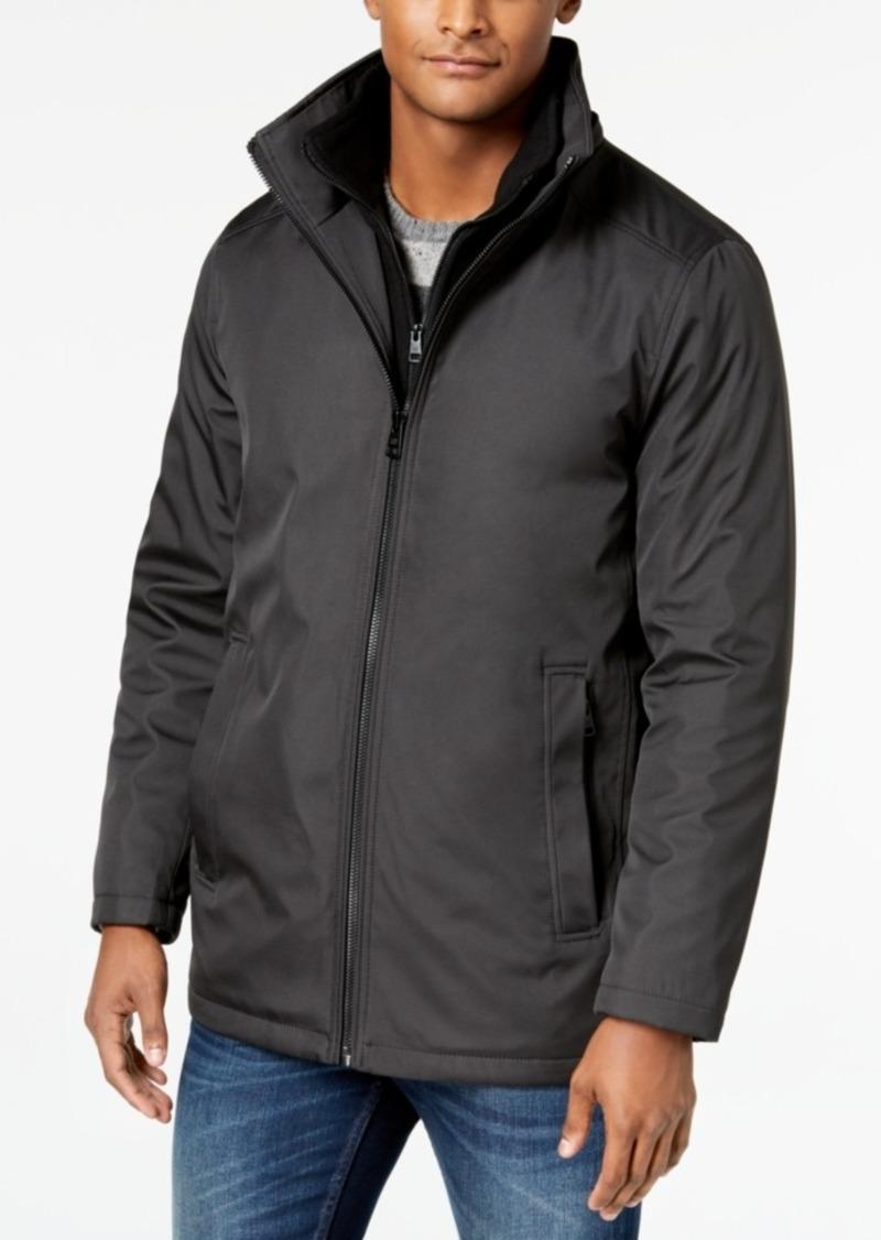 Calvin Klein Men's Ripstop Full-Zip Jacket with Fleece Bib