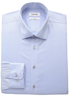 Calvin Klein Men's Big and Tall Non Iron Herringbone Spread Collar Dress Shirt