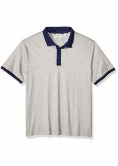 Calvin Klein Men's Tall Short Sleeve Jacquard Polo Shirt