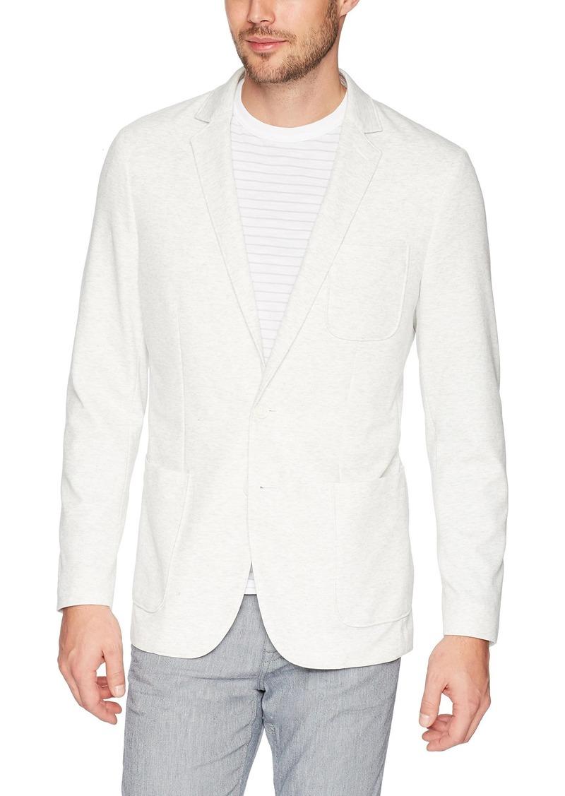 Calvin Klein Men's Blazer Pique Jacket with Two Button Closure Cool gris Heather