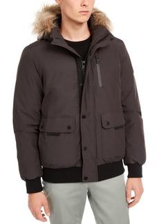 Calvin Klein Men's Bomber Parka with Faux Fur Hood