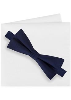 Calvin Klein Men's Bow Tie and Pocket Square Set