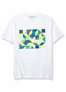 Calvin Klein Men's Brand Traveling Logo T-Shirt Brilliant White ck