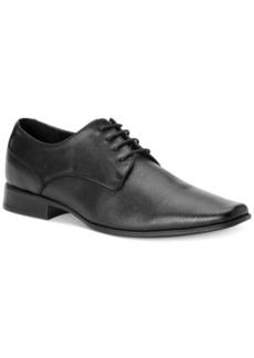 Calvin Klein Men's Brodie Epi Textured Leather Oxfords Men's Shoes