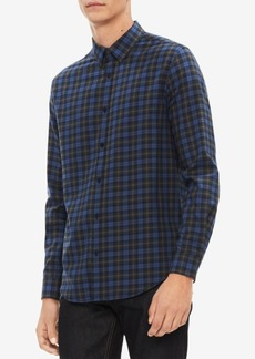 Calvin Klein Men's Brushed Workwear Plaid Shirt