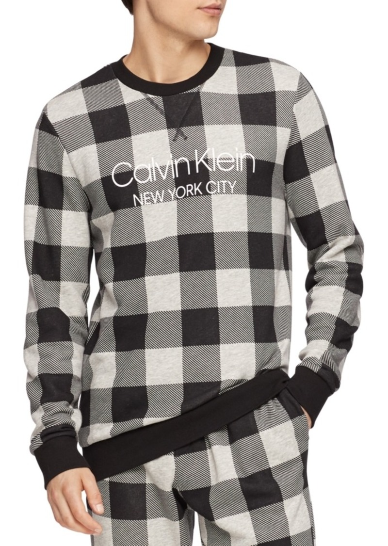 Calvin Klein Men's Buffalo Plaid Sweatshirt