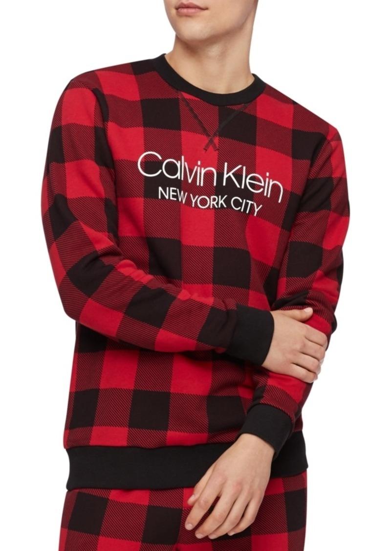 Calvin Klein Men's Buffalo Plaid Sweatshirt