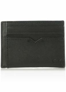 Calvin Klein Men's Burnished Leather Card Case black