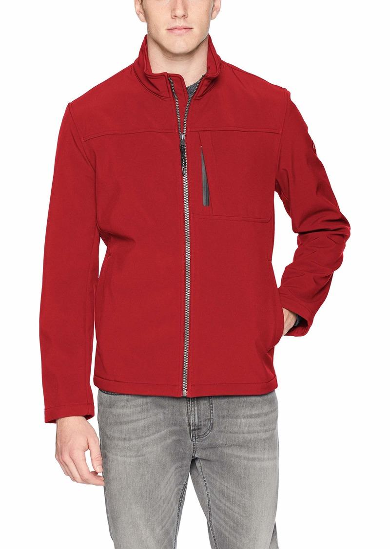 Calvin Klein Men's Calvin Klein Angle Placket Soft Shell Jacket Outerwear -bitter red