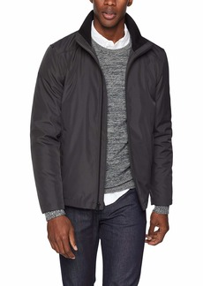 Calvin Klein Men's Calvin Klein Men's Poly Bonded Open Bottom Jacket Outerwear -alloy grey Extra Large