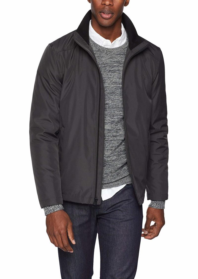 Calvin Klein Men's Calvin Klein Men's Poly Bonded Open Bottom Jacket Outerwear -alloy grey Extra Large