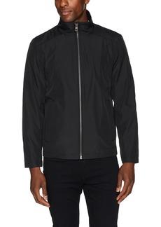 Calvin Klein Men's Calvin Klein Men's Poly Bonded Open Bottom Jacket Outerwear -deep black