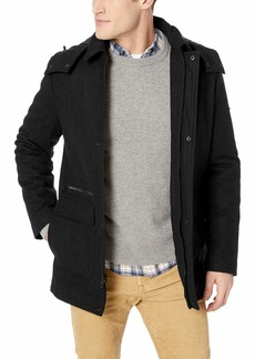 Calvin Klein Men's Calvin Klein Men's Wool Duffle Coat Outerwear -black Extra Extra Large