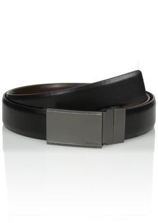 Calvin Klein Men's Calvin Klein Plaque Buckle 30mm Reversible Belt black/Brown