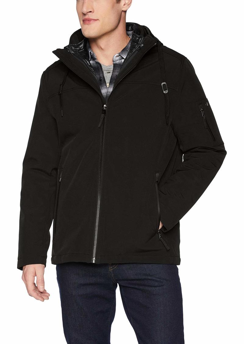 Calvin Klein Men's Calvin Klein Soft Shell Systems Jacket Outerwear -black Extra Extra Large