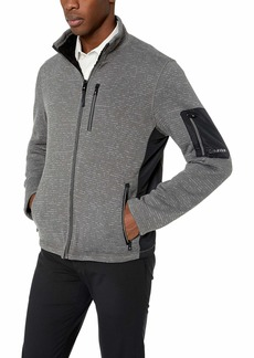 Calvin Klein Men's Calvin Klein Sweater Fleece Jacket Outerwear -titanium