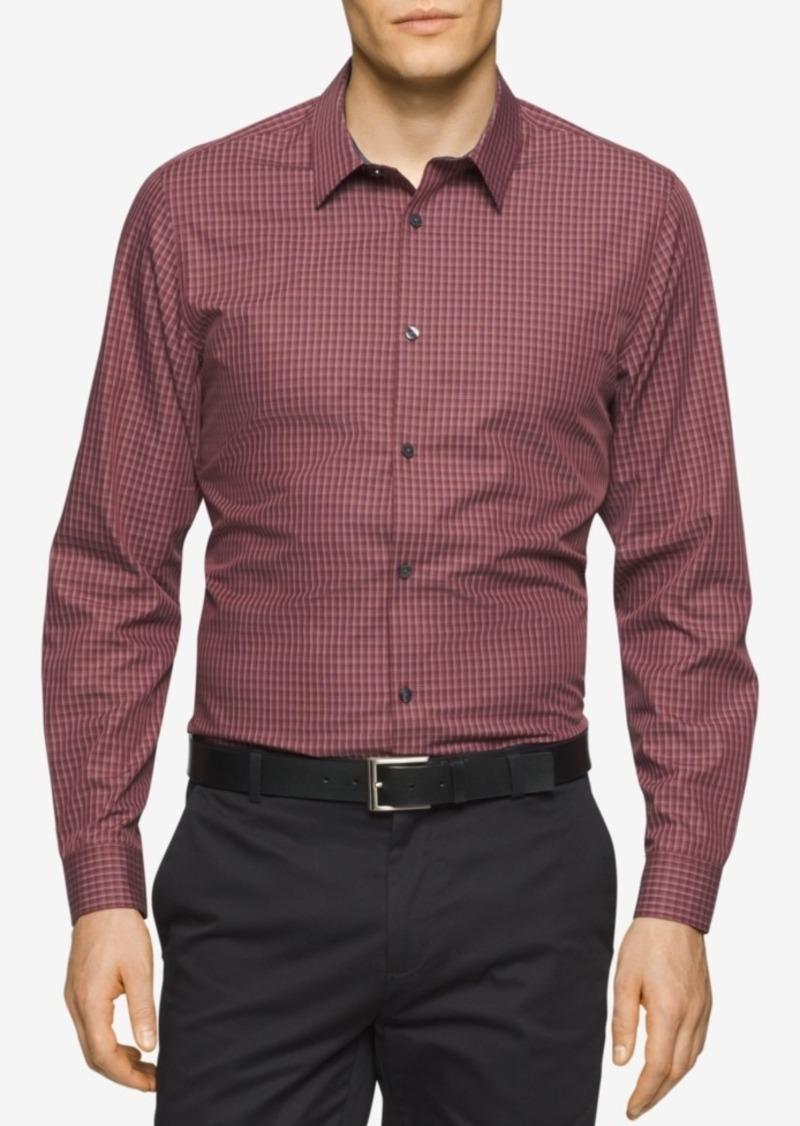 Calvin Klein Men's Check Long-Sleeve Shirt