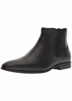 Calvin Klein Men's CHRISTOFF EPI Leather Chelsea Boot Black 11.5M M US