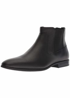Calvin Klein Men's CHRISTOFF EPI Leather Chelsea Boot Black  M M US