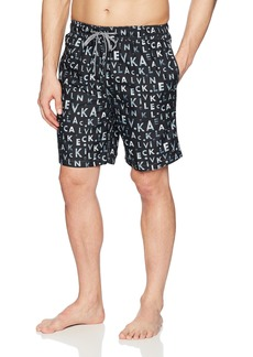 Calvin Klein Men's CK Monogram Printed Swim Trunk  Extra Large