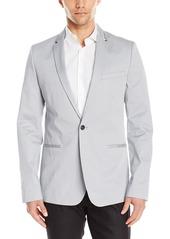 Calvin Klein Men's Ck One Sateen Zip Lapel Jacket