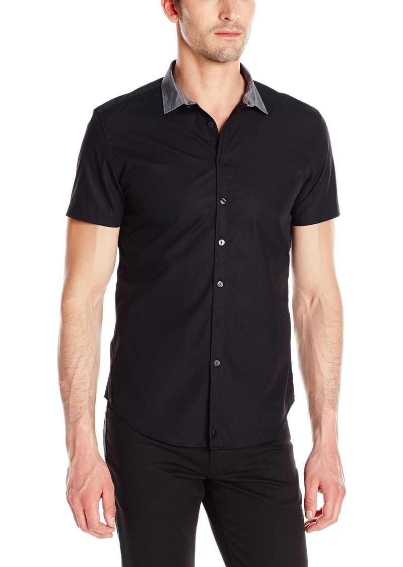 Calvin Klein Men's Ck One Space Dye Short-Sleeve Shirt