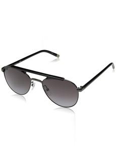 Calvin Klein Men's Ck1220s Aviator Sunglasses GUNMETAL