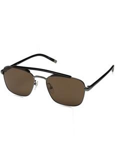 Calvin Klein Men's Ck1221s Navigator Sunglasses Aviator  55 mm