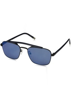 Calvin Klein Men's Calvin Klein Men's Ck1221s Navigator Sunglasses CK1221S-001 Aviator Sunglasses BLACK 55 mm