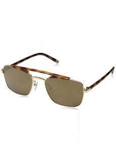 Calvin Klein Men's Ck1221s Navigator Sunglasses Aviator YELLOW GOLD 55 mm