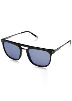 Calvin Klein Men's Ck1239s Square Sunglasses BLACK