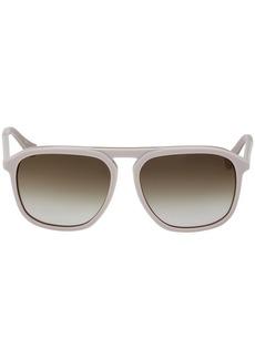 Calvin Klein Men's Ck4317s Oval Sunglasses LIGHT GREY 58 mm