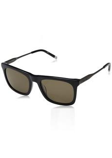 Calvin Klein Men's Ck4319s Square Sunglasses SHINY NAVY