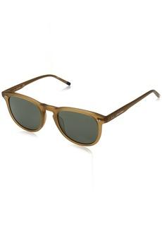Calvin Klein Men's Ck4321s Square Sunglasses MATTE LIGHT BROWN