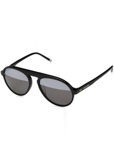 Calvin Klein Men's Calvin Klein Men's Ck4350s Round Sunglasses CK4350S-001 Round Sunglasses BLACK