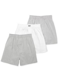 Calvin Klein Men's Cotton Classics Woven Boxer 3-Pack U1732