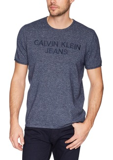 Calvin Klein Men's Classic Ck Jeans Logo Short Sleeve Crewneck T-Shirt  L