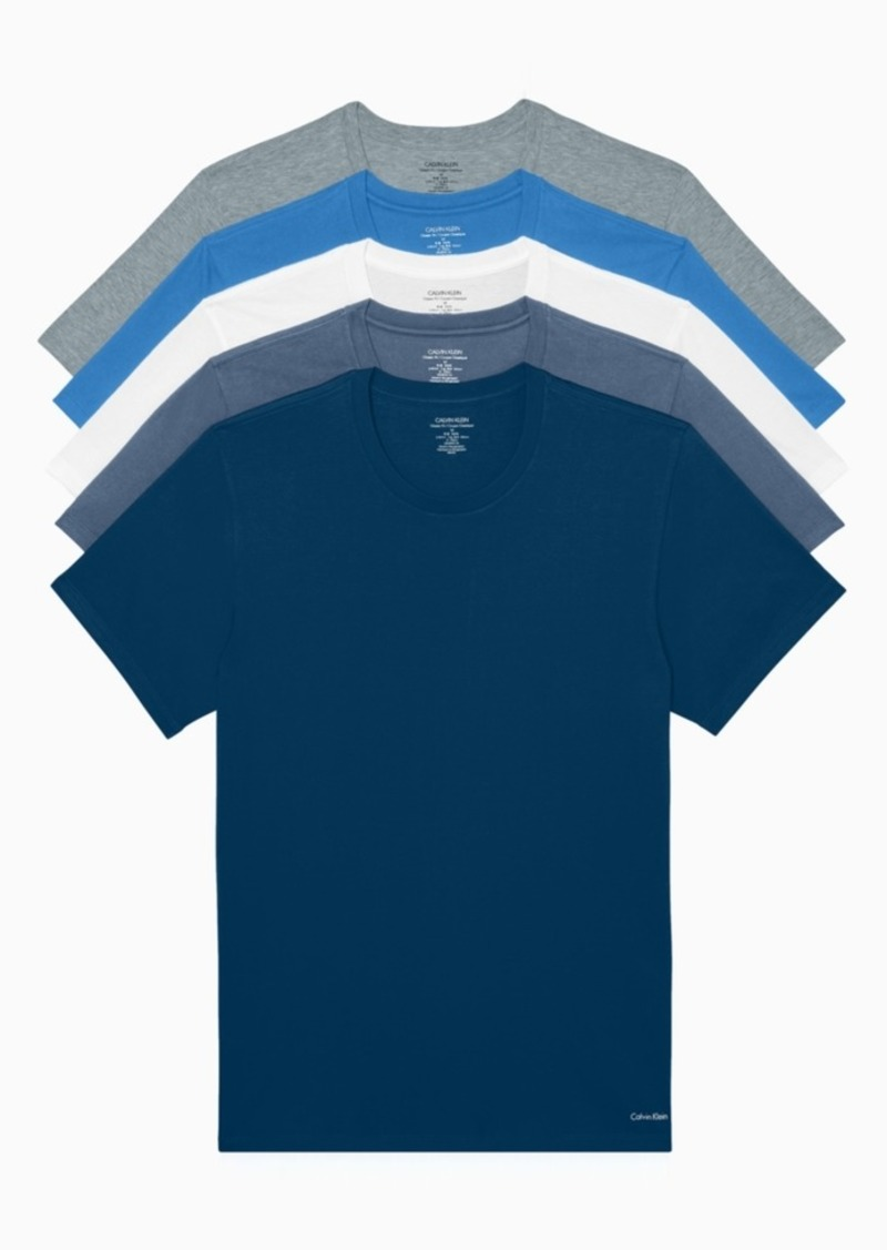 Calvin Klein Men's Classic Crew Neck T-shirts, Pack of 5