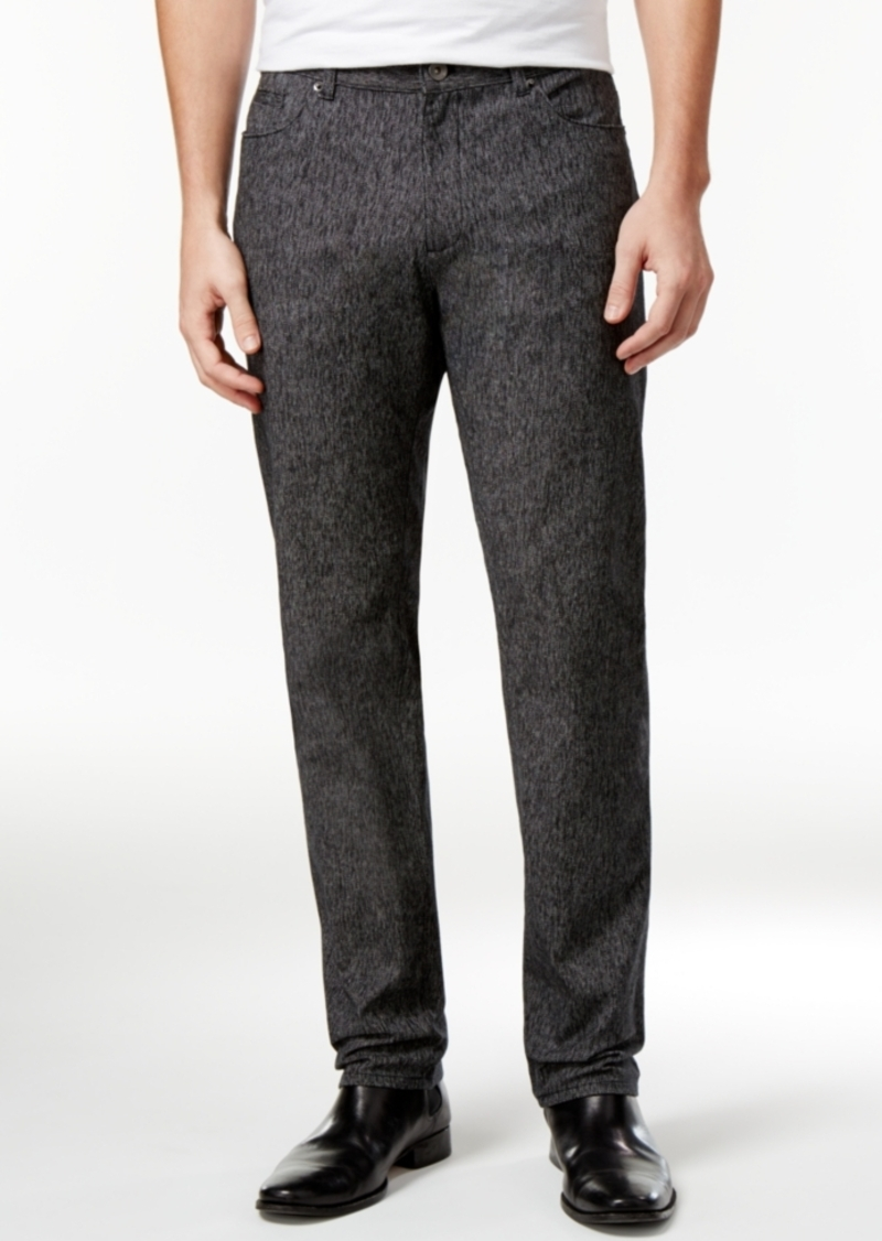 Calvin Klein Men's Classic-Fit Black Marled Pants