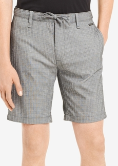 "Calvin Klein Men's Classic-Fit Stretch Windowpane Seersucker 9"" Shorts"