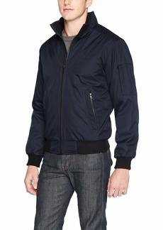 Calvin Klein Men's Classic Rip Stop Bomber Jacket deep blue