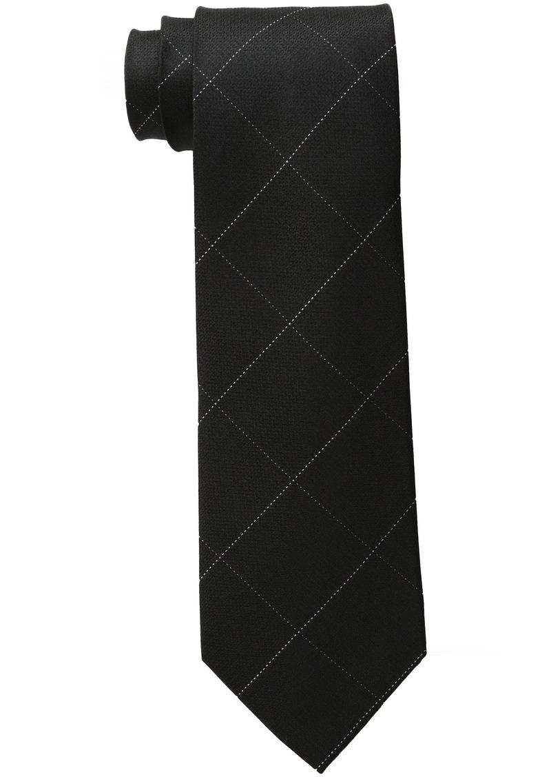 Calvin Klein Men's Classic Windowpane Tie black