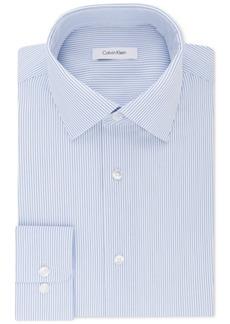 Calvin Klein Men's Classic/Regular Fit Non-Iron Performance Stretch Stripe Dress Shirt