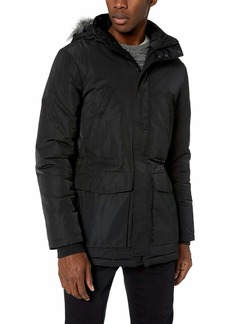 Calvin Klein Men's Coated Puffer Jacket Black ck