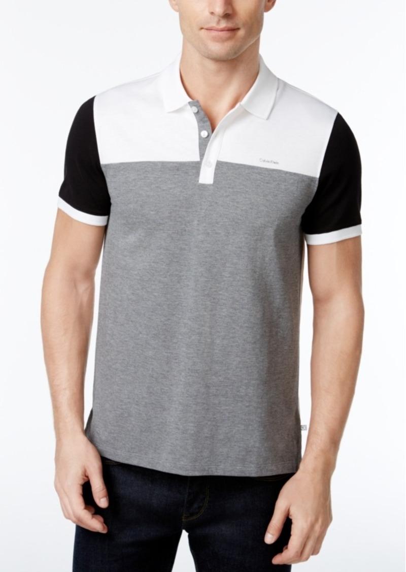 ba9d5d29f Calvin Klein Men's Colorblocked Liquid Cotton Polo, Created for Macy's